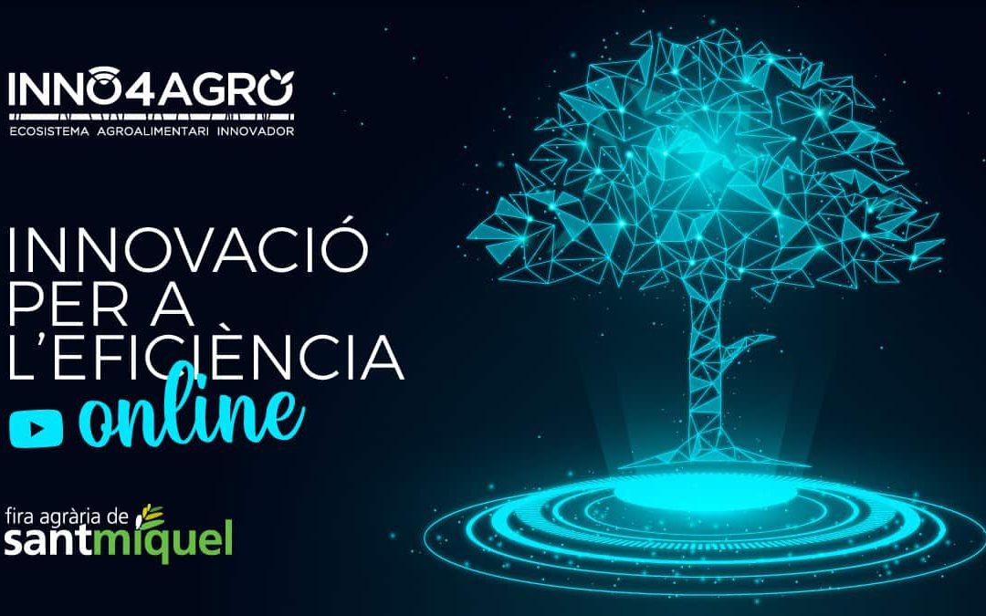 'Innovació per a l'eficiència', la primera jornada en streaming d'Inno4agro en el marc de la Fira de Sant Miquel