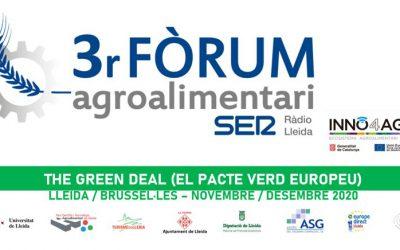 El Pacte Verd Europeu, protagonista del 3er Fòrum Agroalimentari de Ràdio Lleida i INNO4Agro